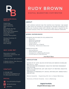 Digital Marketing Copywriter CV